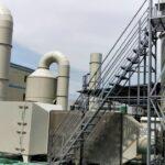 Tấm nhựa PP ứng dụng làm tháp xử lý khí.